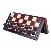 Set de șah magnetic cu tablă și piese de lemn