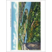 Chattanooga, Tennessee Aerial View Of Moccasin Bend From Lookout Mountain (Playing Card Deck 52 Card Poker Size With Jokers)