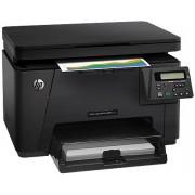 Multifunctional HP Color LaserJet Pro MFP M176n, 16 ppm, Retea, ePrint + Cablu imprimanta Omega OUAB1, 1.5m