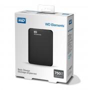 Външен твърд диск Western Digital Elements 750GB USB 3.0 Portable Black