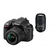 Nikon d3300 + 18-55mm vr ii + 55-300mm vr - man. ita - 2 anni di garanzia