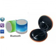 YSB Music Mini Bluetooth Speaker(S10 Speaker) And Headset (JBL_ Headset) for SAMSUNG GALAXY S DUOS 3