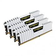 Corsair CMK32GX4M4B3200C16W Vengeance LPX Kit di Memoria RAM da 32 GB, 4x8 GB, DDR4, 3200 MHz, CL16, Bianco