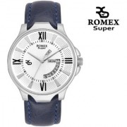 Romex Super Split Day N Date Analog Silver Dial Men Watch- Dd-09Silver