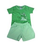 Nelinka dívčí pyžamko světle zelená 1-2 roky