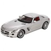 Maisto 1:18 Scale 2010 Mercedes-Benz SLS AMG: Grey