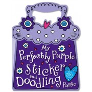 My Perfectly Purple Sticker and Doodling Purse by Katie Cox