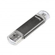 Stick Laeta Twin Hama, 32 GB, USB 2.0, Gri