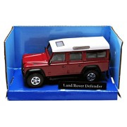 Cararama - Defender 110 - Land Rover - 2004 - Echelle 1/43 - Rouge/Blanc