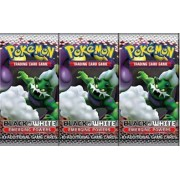 3 (Three) Packs of Pokemon Trading Card Game Black & White EMERGING POWERS Booster (3 Pack Lot)