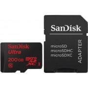Card de memorie SanDisk SDSDQUAN-200G-G4A, Android, microSDXC, 200GB, 90MB/s, Clasa 10 + Adaptor SD