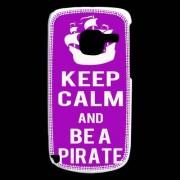 Coque Nokia C3 Keep Calm Be A Pirate Violet