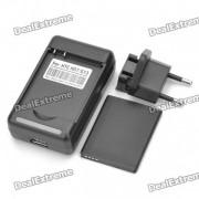 3.7V 1500mAh batterie + batterie charge Station + carte de l'UE pour HTC Wildfire S/G13/A510E