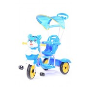 Planet of Toys Tricycle With Canopy And Parental Control - With Music (Blue) For Kids, Children