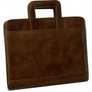 Babila Leather Folio With Retractable Handles 7121li - Brown