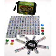 Mexican Train Double 12 Dominoes _ Travel Size _with Colored Numbers by Deluxe Games and Puzzles