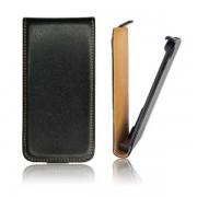 Housse Coque Etui Cuir Fine Slim Noir Pour Samsung Galaxy Trend Lite S7390/ Galaxy Fresh Duos S7392