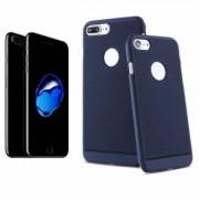 Apple Coque Arrière Protection Bleu Perforée Nid d'Abeille pour Apple iPhone 7 Plus