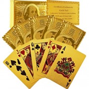 Vortex Toys NEW GOLD 24K Gold Poker Playing United State of America Card game Cards
