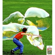 Bubble Thing BIG BUBBLES wand out-bubbles them all! Includes the world's biggest-bubbling least-costly BIG Bubble Mix (makes 2.7 gallons).