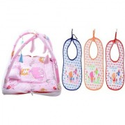 CHHOTE JANAB BABY COMBO OF PLAY GYM AND 3 PRINTED BIBS