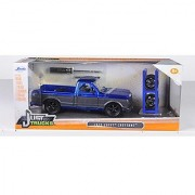 1972 Chevrolet Cheyenne Blue/Matt Grey Pickup Truck Just Trucks with Extra Wheels 1/24 by Jada 97685