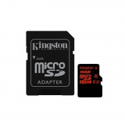 Card Kingston microSDHC 16GB Clasa 10 UHS-I U3 cu adaptor