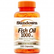 Fish Oil 1000mg - Óleo De Peixe - 320 Cápsulas - Sundown