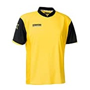 Derbystar Primera Childrens Short Outfield Player Jersey - 116/128, Yellow (Yellow/Black)