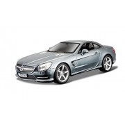 Bburago - Mercedes-Benz SL 500 Hardtop, color rojo (18-21067)