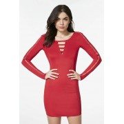 JustFab Robes Zipper Sleeve Dress Femme Couleur Rouge Taille XS JustFab