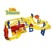 Extreme Fire Racing-tracks Play-set fun kids speeding and winning central track toy