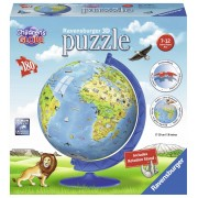 Ravensburger puzzle 3d copii - globul lumii, 180 piese