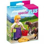 Комплект Плеймобил 4778 - Жена с теленца - Playmobil, 291093