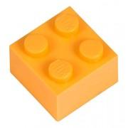 Q-Bricks 2 x 2-Stud Building Blocks flojo Pack (500 piezas, melón)