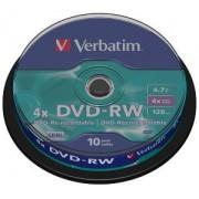VERBATIM Spindle 10 DVD+RW