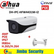 Dahua IPC-HFW4431M-I2 4MP Smart Detection ONVIF H.265 H.264 Full HD IP67 IR Mini Camera POE cctv network bullet with bracket