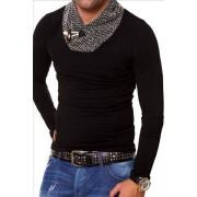 CRSM Pánské triko s dlouhým rukávem CRSM černé - S