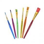 AsianHobbyCrafts Paint Brush Set of 6 Synthetic Flat Paint Brush for Oil Painting, Acrylic Painting