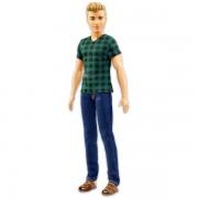 Barbie Fashionistas: szőke Ken baba kockás pólóban