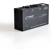 PYLE - 48v Phantom Power Supply for Any Condenser Microphone Music Recording Equipment - 1 Channel -Power Supply Included (PS430)
