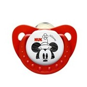 Mickey & minnie chupeta em latex 0-6meses vermelha 2unidades - Nuk