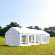 Intent24 4x10m tente de réception, PVC, H. 2m, blanc