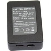 Magideal Portable USB Dual Slot Battery Charger for SJCAM SJ4000 SJ5000 SJ6000 Camera