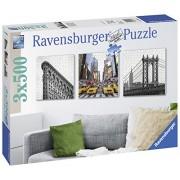 Ravensburger Italy 199235 - Puzzle Impressioni di New York City, 3 X 500 Pezzi Quadrati, Multicolore