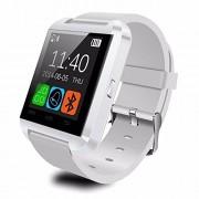 Bluetooth reloj inteligente con tarjeta SIM ranura para tarjeta TF de hacer llamadas de teléfono 2.0 MP Apoyo mensaje notificación podómetro Monitor de sueño compatible con Android y iOS sistema, upgrade white, PD-1
