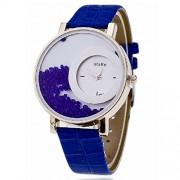 CREATOR Half Moon style inner Blue stones designer watch for Women