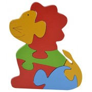 Skillofun Wooden Take Apart Baby Puzzle Large - Lion, Multi Color