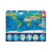 Пъзел Educa Карта на света, 1000 части 16760