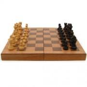 TGT Wooden Book Style Chess Board w/ Staunton Chessmen